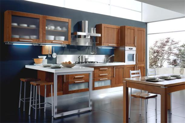 Image of: Ideas for Best Kitchen Cabinet with Modern Decorating Wooden-Tone