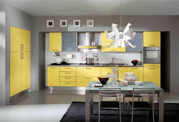 Image of: Ideas for Best Kitchen Cabinet with Modern Decorating-Yellow-Modern