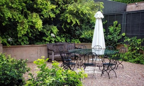 Image of: Outdoor Layout Design with Furniture Ideas by Eckersley Garden Architecture Glass-table-Outdoor