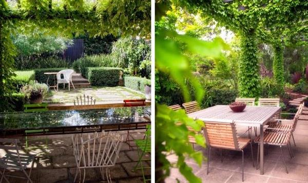 Image of: Outdoor Layout Design with Furniture Ideas by Eckersley Garden Architecture Green-pergolas-Outdoor