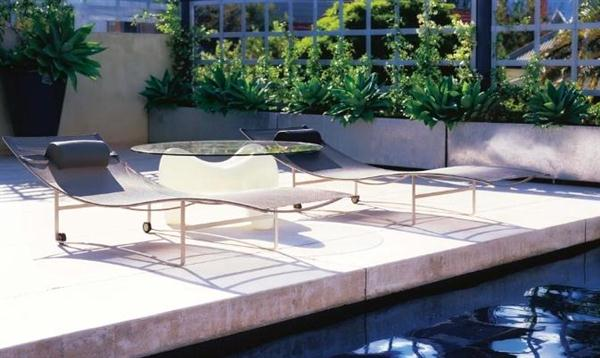 Image of: Outdoor Layout Design with Furniture Ideas by Eckersley Garden Architecture Lounge-chair-sidepool