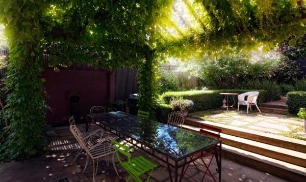 Image of: Outdoor Layout Design with Furniture Ideas by Eckersley Garden Architecture Plant-pergolas-Outdoor-Furniture