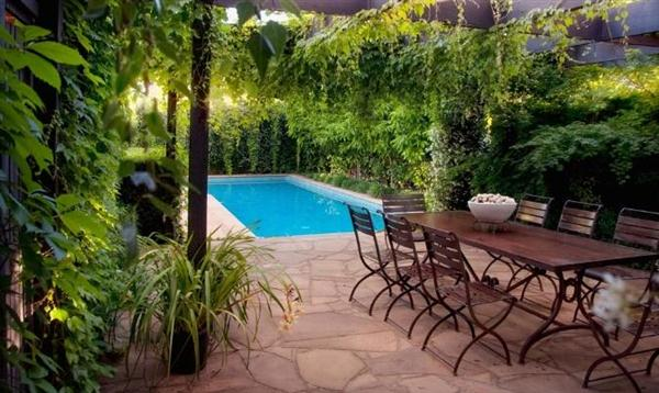 Image of: Outdoor Layout Design with Furniture Ideas by Eckersley Garden Architecture Small-swimming-pool