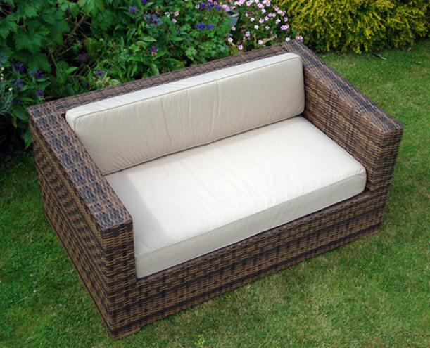 Image of: Simple Outdoor Chair Cushion Designed from Rattan for Garden Furniture Arizona-2-seater