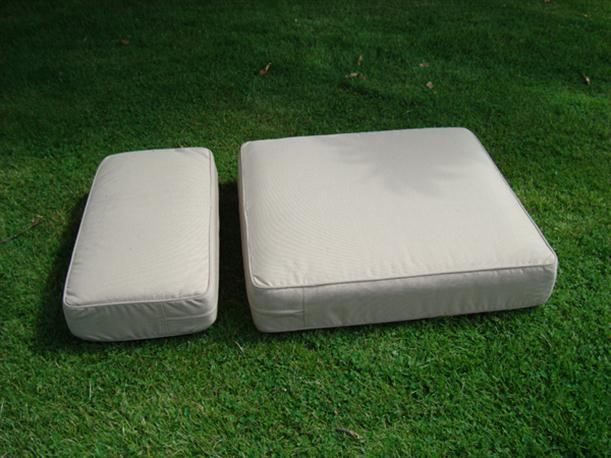 Image of: Simple Outdoor Chair Cushion Designed from Rattan for Garden Furniture Arizona-Armchair