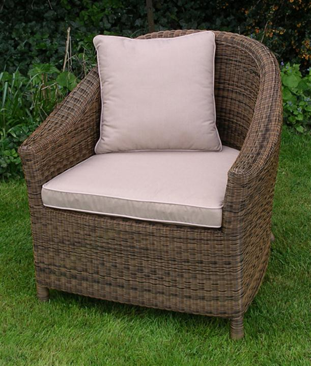 Image of: Simple Outdoor Chair Cushion Designed from Rattan for Garden Furniture Chloe-chair