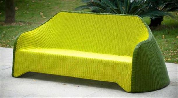 Image of: Stylish Outdoor Furniture Called Olive Green by Solovyov Design long