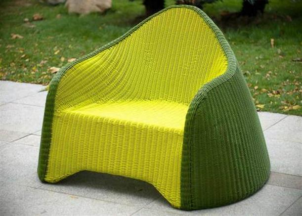 Image of: Stylish Outdoor Furniture Called Olive Green by Solovyov Design single