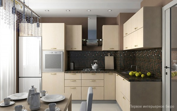 Image of: The House Face For Small Apartment Interior Layout Design Kitchen-Furniture
