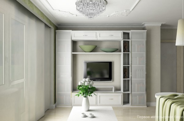 Image of: The House Face For Small Apartment Interior Layout Design White-Living-Room