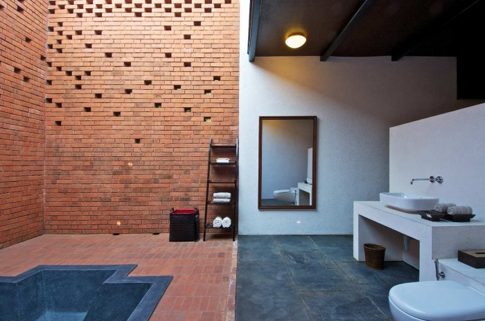 Image of: Bathroom-Ideas Rustic Home Design Called Brick Kiln House Design in Small Village Munavali, India