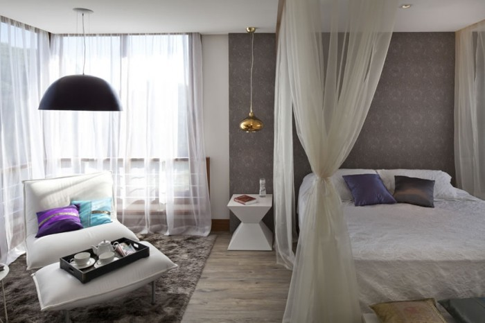 Image of: Bedroom-Trends Two Story House Design Called Linear Maritimo House in Rio Grande do Sul – Brazil