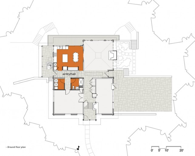 Image of: Ground-Plan-Picture Modern House Renovation Mid Century in Conshohocken – Pennsylvania