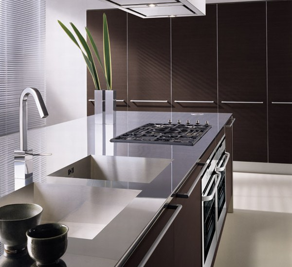 Image of: Italian Interior Kitchen Designs with Modern Originality and Style wash