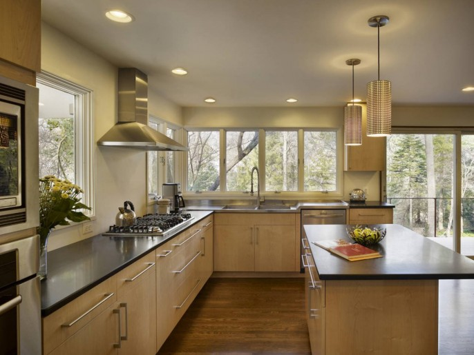 Image of: Kitchen-Design Modern House Renovation Mid Century in Conshohocken – Pennsylvania