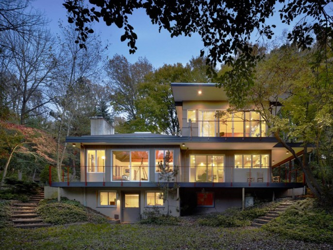 Image of: Modern House Renovation Mid Century in Conshohocken – Pennsylvania view