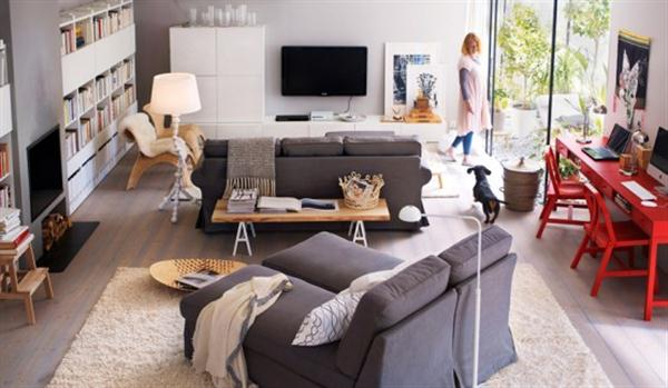 Image of: New Ikea Living Room Decorating Ideas For 2017 Modern