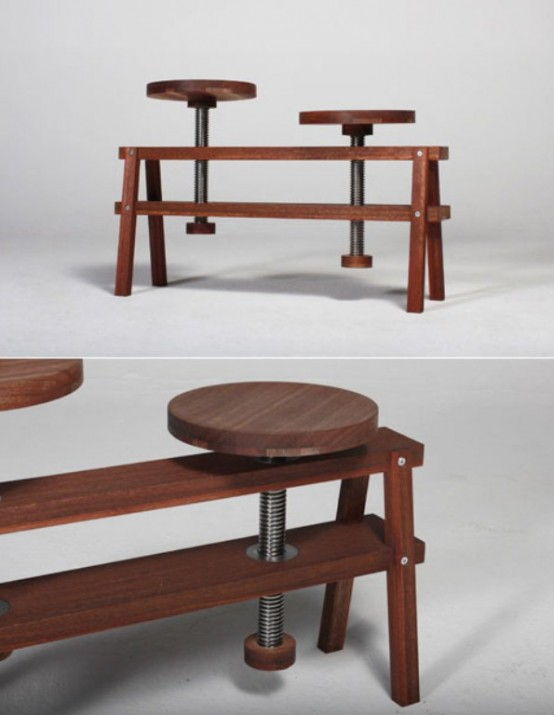 Image of: Original Furniture Pieces with Creative Design By Studio Voigt Dietrich chair detail
