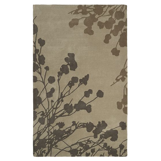 Image of: Silhouetted-Japanese-cherry-blossom-pattern-Asian Rugs Style with Contemporary Design Called Beautiful Sakura Rug