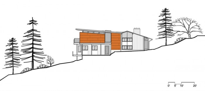 Image of: Site-Plan-Picture Modern House Renovation Mid Century in Conshohocken – Pennsylvania