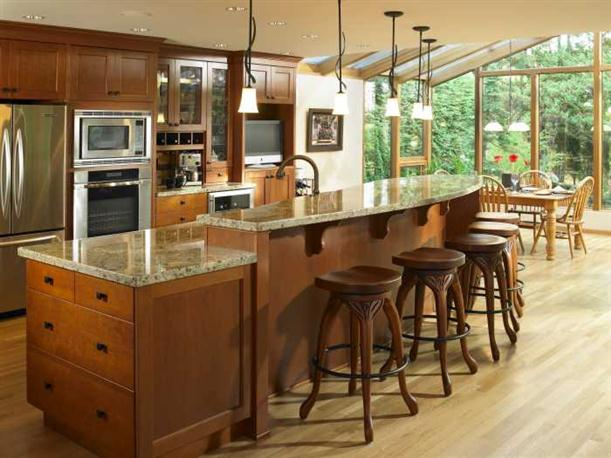 Tips to Choose Kitchen Island with Seating Marmer-kitchen