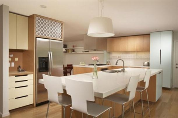 Tips to Choose Kitchen Island with Seating Simple-white