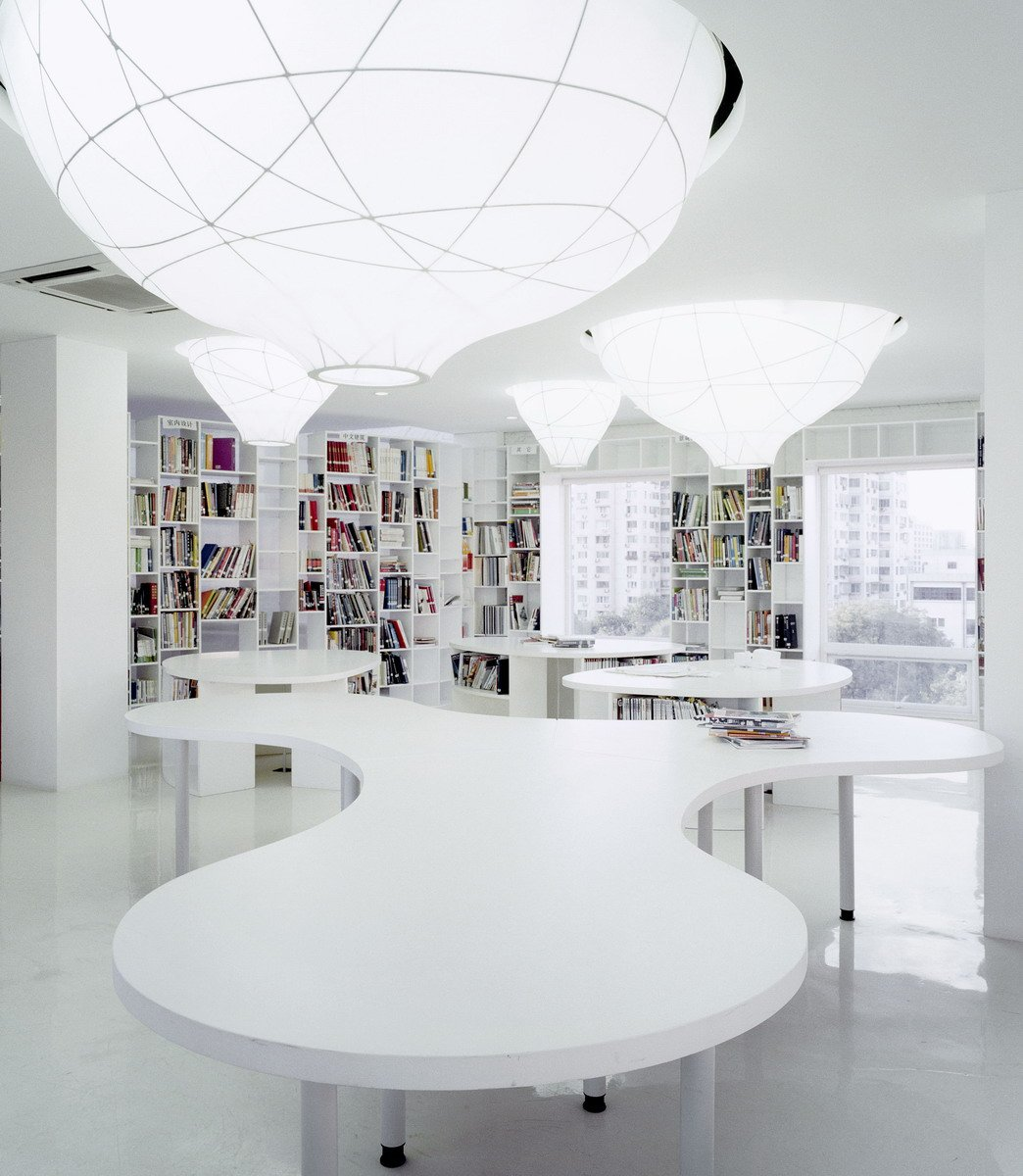 Image of: Cool-Lighting-Ideas-Contemporary Office Interior Called Mochen Office Interior in Beijing, China