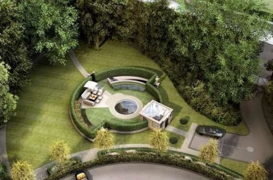 Image of: Indoor Water Features for Amazing Mansion in Bowdon, England green