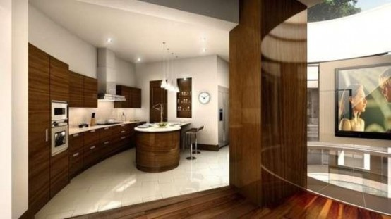 Image of: kitchen Indoor Water Features for Amazing Mansion in Bowdon, England