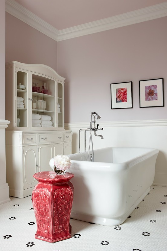 Image of: Bathroom Vanities Contemporary with Red White Theme bath thub