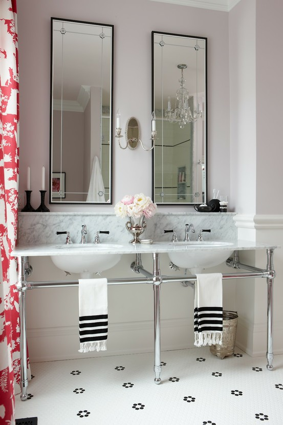 Image of: Bathroom Vanities Contemporary with Red White Theme sink