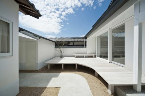 Image of: Exterior House Design with White Dormitory Japanese Style 1-468×311