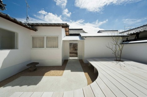 Image of: Exterior House Design with White Dormitory Japanese Style view 468×311