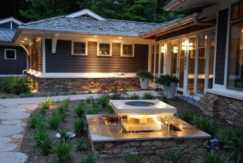 Image of: Exterior House lighting Ideas for Your Modern House cool