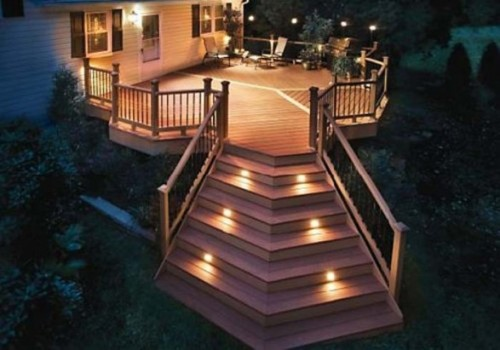 Image of: Exterior House lighting Ideas for Your Modern House in the stairs