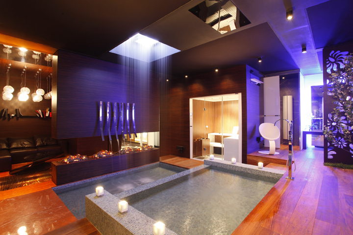 Image of: Interior Spa Design with Colourfull Theme view