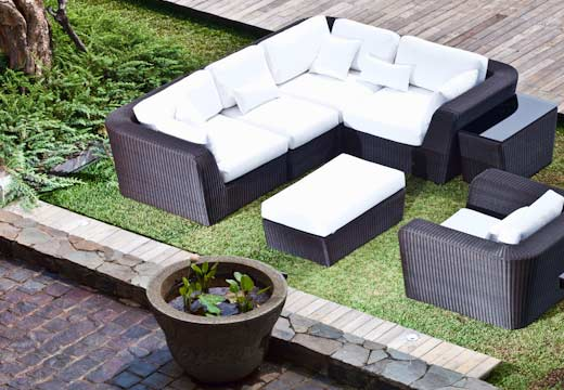 Image of: Modular Lounge Furniture for All Weather midulkurv at garden