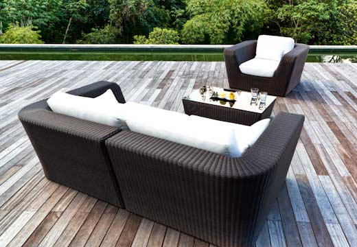 Image of: Modular Lounge Furniture for All Weather midulkurv rear