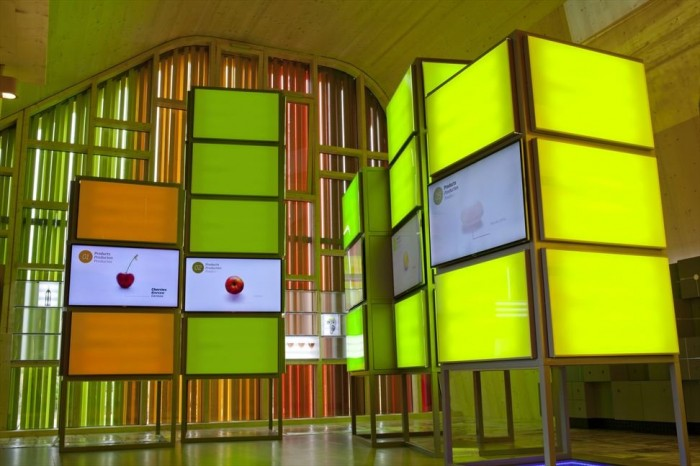 Image of: Colorful-Cabinet at Pavilion House Design Spanish Style in Venlo Like Mountains 700×466