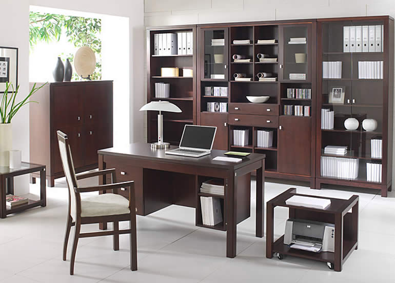 Image of: Home Offices Decor Idea with Wooden Furniture duo18