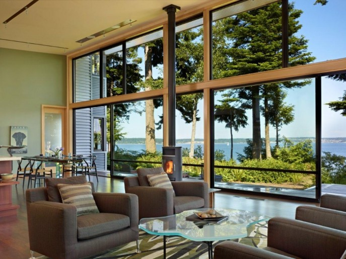 Image of: Modern Wooden House with a Waterfront Property by FINNE Architects Living-Room-Ideas-687×515