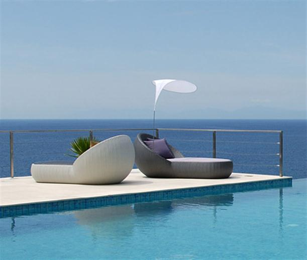 Image of: Poolside Chaise Lounge with Matching Coffee Table view 2