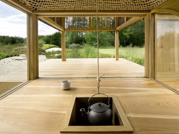 Image of: Tea house Design with Nearby Landscape ceret