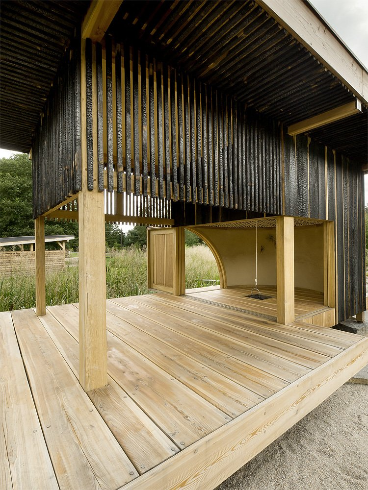Image of: Tea house Design with Nearby Landscape interior