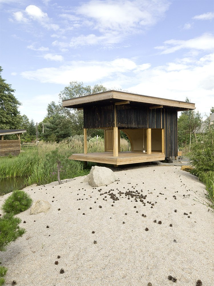 Image of: Tea house Design with Nearby Landscape view
