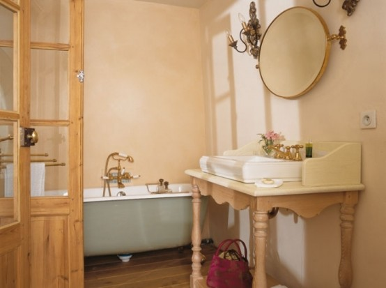 Image of: Traditional House Design in French with Classic Interior view bathroom