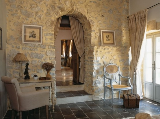 Image of: Traditional House Design in French with Classic Interior view door