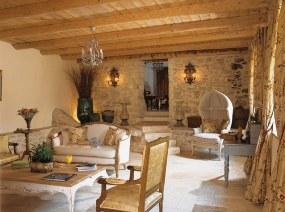 Image of: Traditional House Design in French with Classic Interior view living
