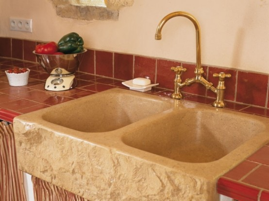 Image of: Traditional House Design in French with Classic Interior view sink