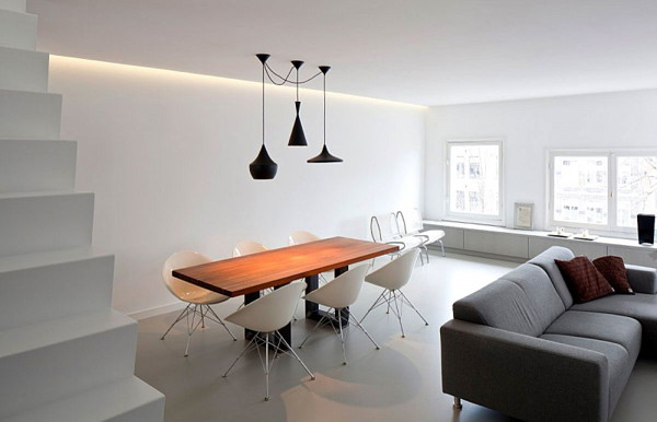 Image of: Apartment Interior Decoration with Bright and Modern Concept view center-room